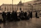 Chegada das primeiras focolarinas a Lisboa - Estação Sta. Apolónia - 21 fevereiro 1966